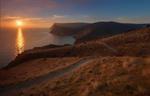 Обои Февральский закат на Черном море, Балаклава, Крым, фотограф SHE (Aiya) Таня