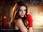 Обои Sara Sampaio / Сара Сампайо - португальская топ-модель стоит у ринга, Victorias Secret