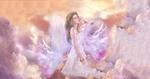Обои Девушка-ангел в небе