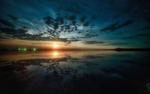 Обои Восход луны над озером, фотограф Склейнов Роман