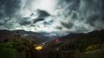 Обои Ночь полнолуния на горами с небольшим храмом на вершине, Кавказ, Сентинский храм фотограф Склейнов Роман