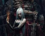 Обои Белокурая девушка-демон стоит во главе рыцарей смерти, by Stefan Koidl