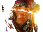 Обои Девушка с украшением и цветами на голове, by Kaloyan Stoyanov