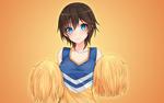 Обои Голубоглазая девушка с короткой стрижкой с двумя помпонами, by AssassinWarrior