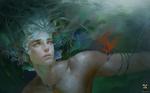 Обои Парень под водой, by GjschoolArt