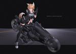 Обои Девушка-лиса сидит на полицейском футуристическом мотоцикле, by M4 Miv4t