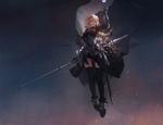 Обои Сайбер / Saber с мечом в руке из аниме Судьба / Ночь схватки / Fate / Stay Night, by M4 Miv4t
