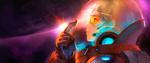 Обои Девушка-Stargazer / Звездочет в скафандре в космосе, by asuka111