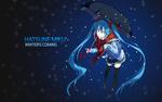 Обои Vocaloid Miku Hatsune / Вокалоид Мику Хацунэ, by AssassinWarrior