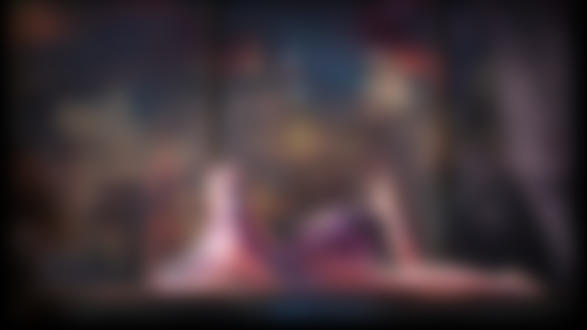 Обои Обнаженная Hatsune Miku / Хатсуне Мику в наушниках лежит на подоконнике большого окна с видом на ночной город, by MAHO