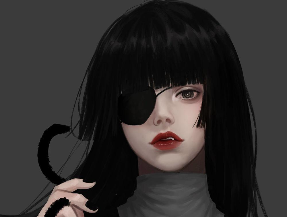 Картинки девушек с повязкой на глазе