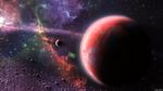 Обои Планеты в разноцветной туманности космоса, by Snek