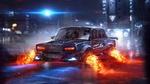 Обои Футуристическая LADA-2107 на улице ночного города (Боевая Классика), by PAVEL BOND