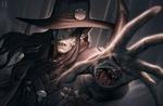 Обои Ди использует магию из аниме D: Vampire Hunter / Ди :Охотник на вампиров, жажда крови