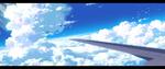 Обои Аэроплан в облачном небе