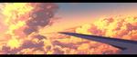 Обои Аэроплан в закатном небе