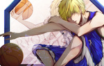 Обои Кисе Рета / Kise Ryouta с мячом из аниме Kuroko no Basuke / Баскетбол Куроко