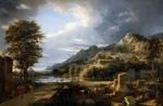Обои Картина: Античный город Агридженто, художник Пьер-Анри де Валансьен