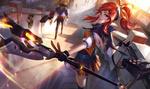 Обои Lux, Lady of Luminosity / Люкс, Леди Свечения из игры League of Legends / Лига Легенд, by Chengwei Pan
