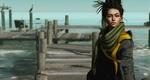 Обои Девушка с сигаретой во рту стоит на фоне пристани, автор Bridget G