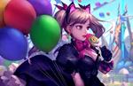 Обои Black Cat D. VA Hana Song / Черная кошка Ханна Сон из игры Overwatch / Дозор, by Tina Wei
