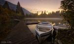 Обои Лодки у мостика, Швейцария, by Daniel Maier