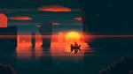 Обои Парусник на фоне заката, by JoeyJazz