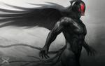 Обои Темный ангел в шлеме, by Artgerm