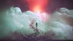 Обои Девушка стоит на лестнице, ведущей в небеса, by Grandfailure