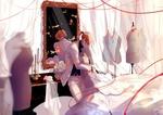 Обои Парень обнимает безголовый манекен в свадебном платье, by lluluchwan