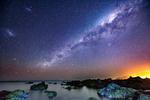 Обои Млечный путь над южным побережьем Wellington / Веллингтона, by MichaelJordanoff