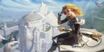 Обои Lux, Lady of Luminosity / Люкс, Леди Свечения из игры League of Legends / Лига Легенд, by lejia chan