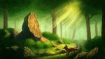 Обои Лиса смотрит на камень, by CreeperMan0508