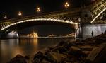 Обои Мост Маргит в ночи, Будапешт, Венгрия, фотограф Szilard Jozsa
