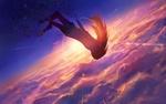 Обои Девушка падает с небе, by sishenfan