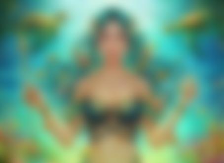 Обои Велламо - богиня моря стоит под водой, by Midorisa