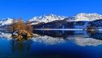 Обои Горное озеро Bergsee / Бергзее зимой, Switzerland / Швейцария
