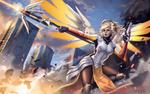 Обои Mercy / Ангел / Angela Ziegler / Ангела Циглер из игры Overwatch / Дозор, by AgusSW