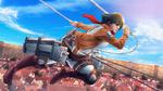 Обои Mikasa Ackerman / Микаса Аккерман из аниме Shingeki no Kyojin / Вторжение гигантов