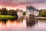 Обои Ле Шато де ла Бретеш / Замок в Бретании перед озером
