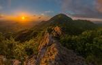 Обои Весенний закат над горой Бештау, фотограф Лашков Федор