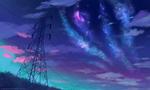 Обои Млечный путь над антенной мачтой, by AuroraLion