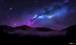 Обои Северное сияние на небе, by Ejlen