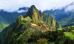 Обои Вид сверху на древние руины города инков Мачу-Пикчу / Machu Pikchu, Peru / Перу