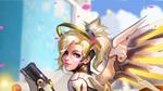 Обои Mercy / Ангел / Ангела Циглер из игры Overwatch / Дозор, by Liang-Xing