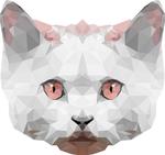 Обои Белый кот на белом фоне, by 0l-Fox-l0