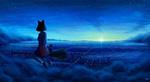 Обои Kiki / Кики и Jiji / Джиджи из аниме Kikis Delivery Service / Служба доставки Кики / Ведьмина служба доставки, by RicoDZ