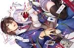 Обои Сайджо Гурен и Сайджо Карен из манги Брат фальшивого F-ранга собирается править в академии с геймерской оценкой потенциала / Dear Self-styled F rank bro says, hes gonna rule a game-oriented school / Jishou F-Rank no Oniisama ga Game de Hyouka sareru Gakuen no Chouten ni Kunrin suru Sou desu yo?
