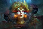 Обои Жрецы, поклоняющиеся Верховной богине-Создательницы Планеты, by David Kuo