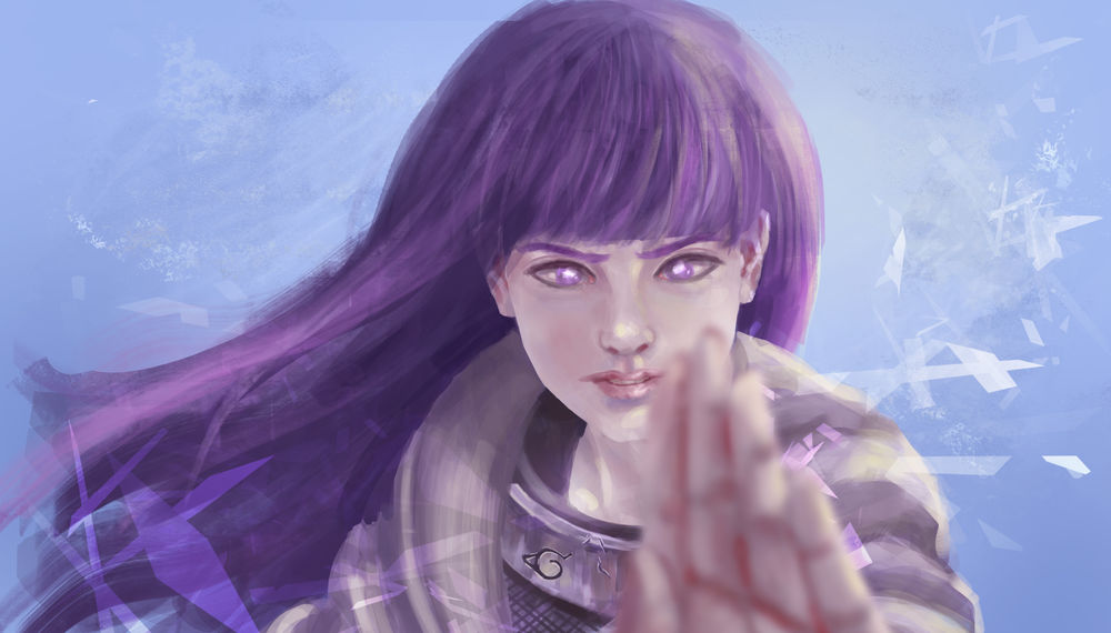 Обои для рабочего стола Hinata Hyuga / Хината Хьюга из аниме Наруто / Naruto, by yunliart